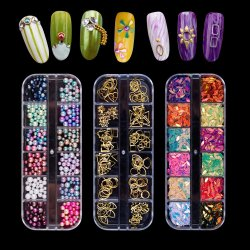 Manufacture DIY Paillettes Mermaid Perles d'ongles nail art décorations