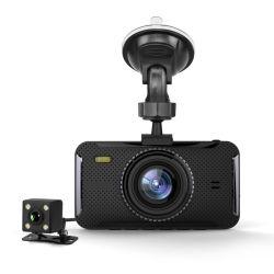 4 Selbstkamera-SuperNachtsicht-Doppelkamera G-Fühler des Zoll-FHD 1080P/Schleife/Adas Schreiber-Auto-Kamerarecorder