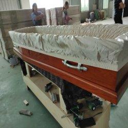 Preiswerter hölzerner Sarg mit Carvings, Paulownia Begräbnis- Schatullen für Verkauf
