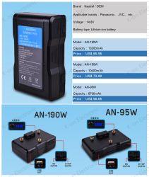 cámara digital Tipo de batería Anton Bauer un-190W 190Wh para Panasonic/JVC Videocámara Video