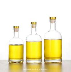 375ml 500ml 750ml 1000ml ontruimen de Witte Fles van het Glas van de Geest van de Wodka van de Whisky voor Alcoholische drank met Cork