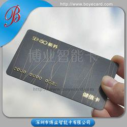Gedruckte Chipkarte PVC-Plastic mit Embossing Number