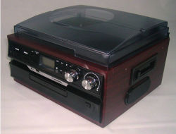 USB Turntable with CD, Am/FM Radio, Cassette (SW-1201)