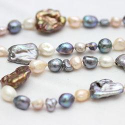 Mode bijoux Baroque Collier de perles d'eau douce (E190026)