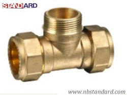 Copper Pipe Copper Pipe Fitting/Brass Male Tee를 위한 금관 악기 Male Tee
