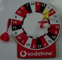 Logo Vodafone cadeau promotionnel cible de fléchettes d'impression personnalisé