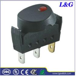 TUV/UL 6A 250V Lamp Rocker Switch Used in Droogkap