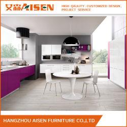 خزانة المطبخ الشعبي الحديثة ذات التصميم العالي اللامع