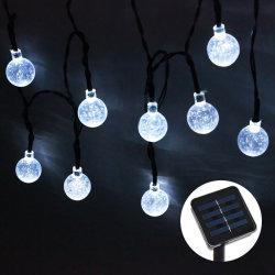 bunte Solarkugel-feenhafte Lichter der Kristallkugel-20LED