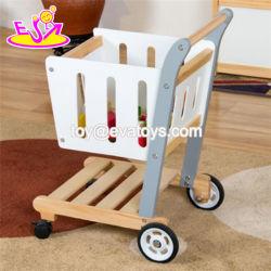 Funny Supermercado Carrinho de Supermercado para crianças de madeira para compras W16e108