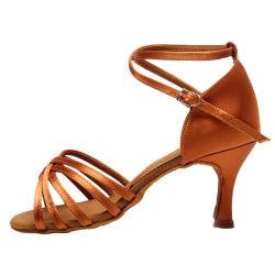 صنع وفقا لطلب الزّبون مؤدّ بسيطة لاتينيّ رقص حذاء مع حريري أطلس نمو نساء أحذية سيادة [شوس]