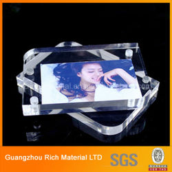 De AcrylOmlijsting van de magneet/het Plastic AcrylFrame van de Foto PMMA