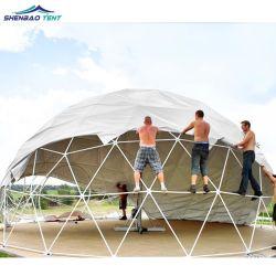 屋外キャンプ用ジオデシックドームスフィアテント亜鉛めっきスチールフレーム