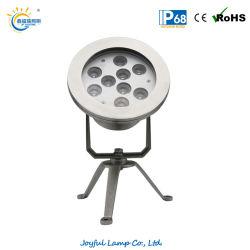 9W à LED Spotlight sous-marin étanche extérieur lumière LED IP68 Spot de sous-marine avec support en acier inoxydable (JP95591)