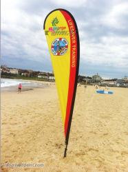 Im Freien 3m hohe fördernde bekanntmachende Strand-Fahnen-Markierungsfahne mit Zoll