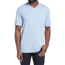 100% coton promotionnels personnalisés de haute qualité col V de nouvelle conception des hommes T-Shirt Hommes d'été T-shirts