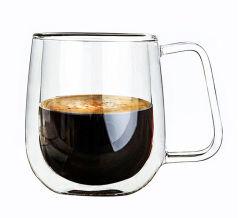 Tasse à café en verre double paroi pour cadeau de promotion de mariage personnalisé