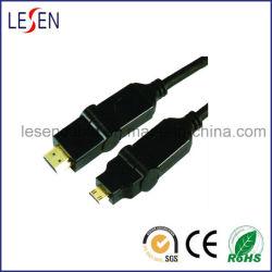 Cabo HDMI, ficha HDMI para Mini-ficha tipo rotativo