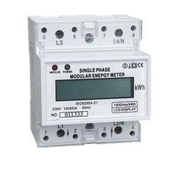 LCD 디스플레이를 가진 종류 1.0 단일 위상 2 철사 AC 디지털 전압계