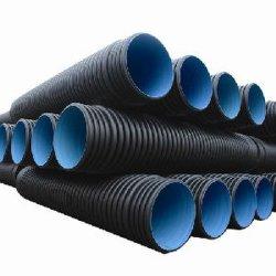 長い寿命Dn300mmの円形の滴り潅漑のHDPEの排水の金属プラスチックは金属ベルトのHDPEの倍の壁によって波形を付けられる管を配管する