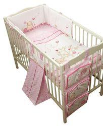 Vastgestelde Mooi van het Beddegoed van de Baby van het kinderdagverblijf Weinig Roze Blauw van Cotbed van het Kussen van de Gordijnen van de Ster