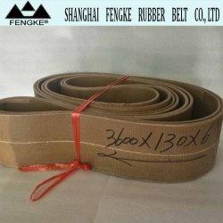 Courroies plates de caoutchouc pour le papier Tuber Bobineuse 3600X130X6