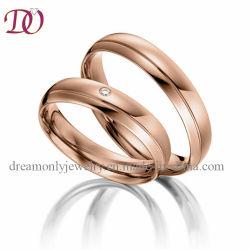 模造約束の結婚指輪の一定の赤い金の結婚指輪彼のおよび彼女のカップルのリング