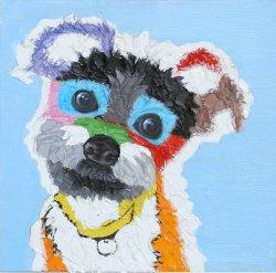 Carino foto di olio per animali domestici con HP per la pittura di Wall Art