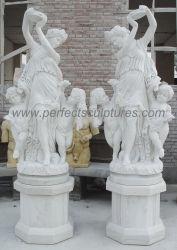 Feine Kunstfertigkeit-lebensgrosse Marmordame Woman Mother und Jungen-Kind-Sohn-Statue (SY-X1888)
