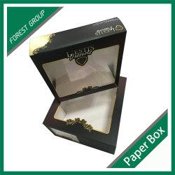 Grau alimentício Caixa de bolo de papel com janela de PVC