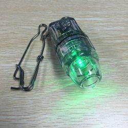 El LED verde 12cm de profundidad de las luces de la pesca submarina con gancho