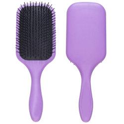 Paleta grande Premium cepillo para el cabello de cojín Blow-Drying & Detangling - Cómodo diseño, para enderezar y suavizar la luz (morado)