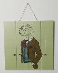 Décoration murale MUR de promotion de l'Art de la plaque d'animaux en bois