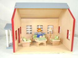 Модель деревянная игрушка мебелью ручной работы дома кукла питателя