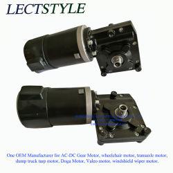 12V 24V 240V-380Wの電気動力ゴルフトロリーワームギヤDCモーター