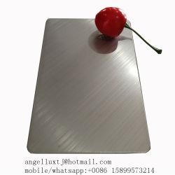 SS304 croix de repère du grain de tôles en acier inoxydable matériaux décoratifs
