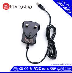 Fiche mâle UK 3 broches de l'adaptateur d'alimentation 15V 800 mA avec adaptateur de puissance de commutation 3 ans de garantie
