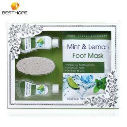 Soem-tadelloses Zitrone-Geruch-Fuß BADEKURORT Sorgfalt-Schablonen-Blatt mit Papierkasten