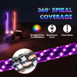 Venda por preço de fábrica 12V 4FT perseguindo com controle remoto de cor RGB LED Luz Bandeira ATV Partes