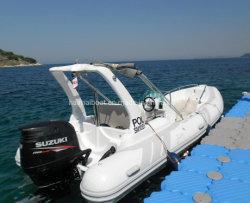 5.8M 19pieds la vitesse du Bateau Bateau Bateau gonflable en caoutchouc rigide en fibre de verre Bateau Bateau Sport Hypalon Bateau Bateau en aluminium de bateau de pêche bateau grande vitesse