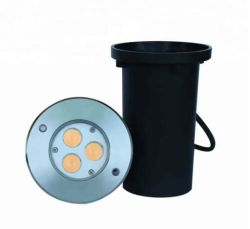 新しいデザイン蜂蜜の櫛DC24Vの地下ライトとの屋外LEDデッキの照明IP65防眩3W Inground軽いUplighter