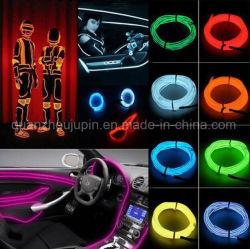 Custom EL colorés de barrette de fil de lumière froide pour la décoration de voiture