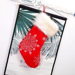 Saco de presentes de Natal 20 Polegadas meias bordadas floco de neve de Natal