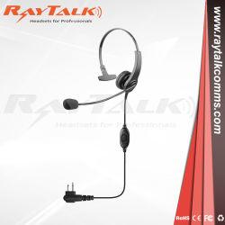 Radio à deux voies de l'oreille unique casque avec rampe de flexible