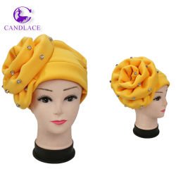 熱い販売のナイジェリア緑の新しいデザインヘッド覆いの女性のターバン