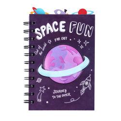Cuaderno de espiral con Planeta cubierta de PVC de diseño para niños