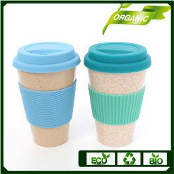 자연적인 대나무는 컵 커피를 받아 넣는다
