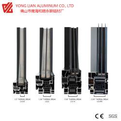 Profil en aluminium de Fenêtre à battant coulissant horizontalement et avec le profil de rendement Thermal-Break aluminium extrudé