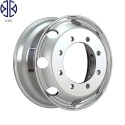Polidos Forte Veículo Pesado brilhante de ligas de alumínio de autocarro do aro da roda de 19,5 X 7,5