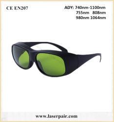 occhiali di protezione protettivi dell'occhio 740-1100nm per il laser del Alexandrite 755nm